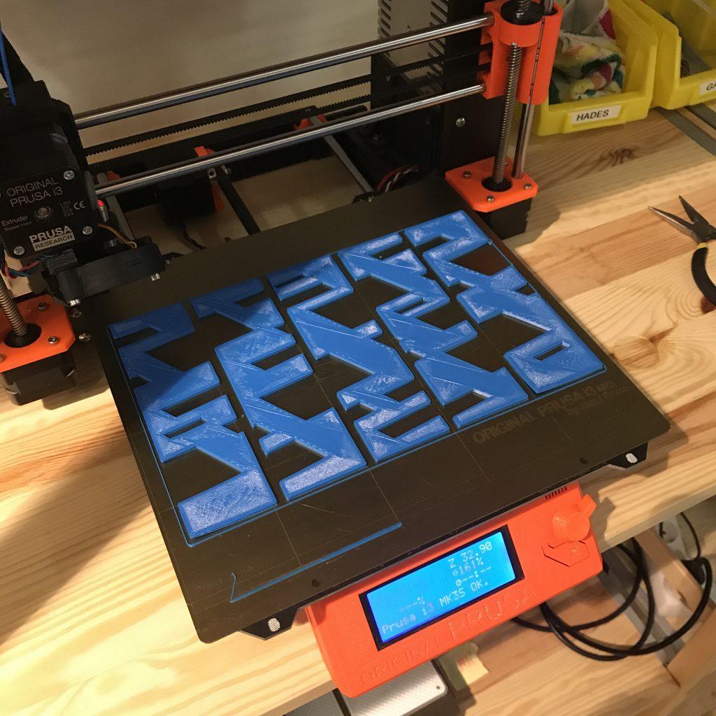 Fertiger Druck noch auf dem 3D-Drucker